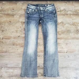 Miss Me Boot Cut Womens Light Wash Denim Jeans